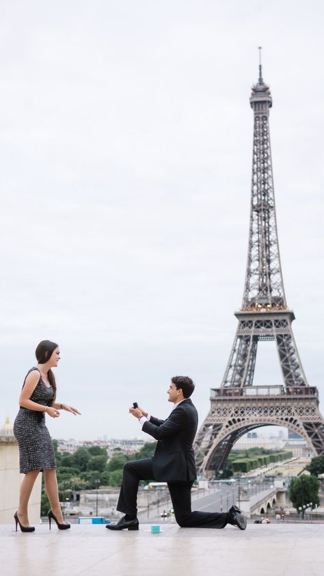 Stunning destination proposal in Paris, and their love story is just the sweetest. <3