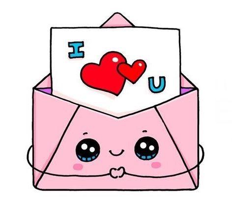 I Love You Kawaii Cute Desenhos Bonitos Simples Doodles Kawaii