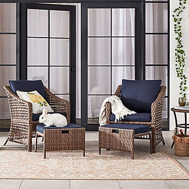 Bee Willow Home All Weather Wicker Patio Furniture Collection Bed Bath Beyond Patio Furniture Collection Conversation Set Patio Wicker Patio Furniture