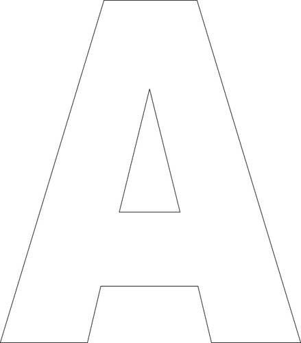 Free Printable Upper Case Alphabet Template Craft Ideas Letter Stencils Templates Letters