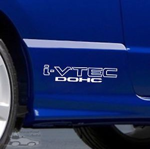 HONDA IVTEC DOHC VINYL DECALS STICKERS VTECH Civic White Clean - Honda accord decals stickers