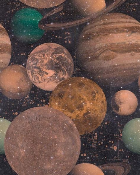 The Universe Wallpaper in Black and Copper from the Eclectic Collection by Mind the Gap