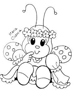 Riscos Graciosos Cute Drawings Riscos De Abelhinhas Joaninhas