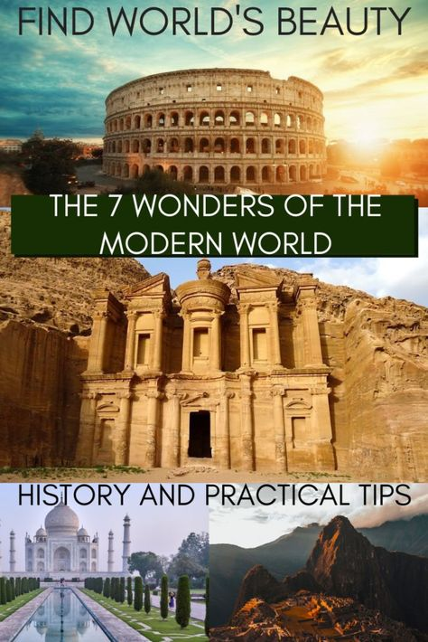 The 7 Wonders Of The Modern World And How To Visit Them Avec