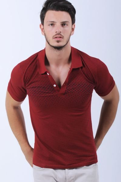 Erkek Tisort Lacivert Nokta Desen Polo Yaka Bordo T Shirt Modelleri Cool Kombin Bayan Gunluk Dugun Modavigo Otantik Genc K Polo Erkek Tisort Tisort