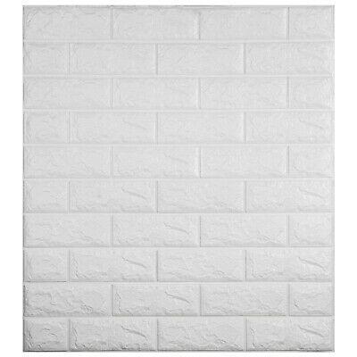 3D Wall Sticker PE Foam Brick Panel Self-adhesive Embossed Decal Waterproof