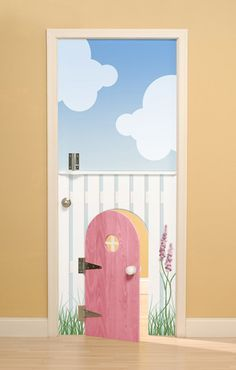 Beautiful split door with miniature pink door. Perfect for a little girlu0027s bedroom cubby house or playroom & cute kids u0027safety dooru0027. lots of cute ideas for how to decorate ... pezcame.com