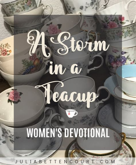 Christian Women's Ministry, Storm In A Teacup, Church Fellowship, Tea Party Favors, Biblical Womanhood, Prayer Book, Christmas Tea, Christian Living, Tea Cups