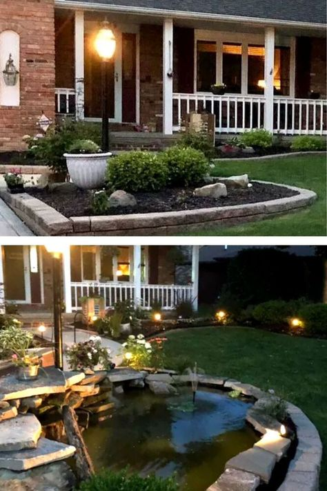 Dig a hole in your front yard or backyard for this creative DIY pond. Easy garden upgrade DIY Idea on a budget.