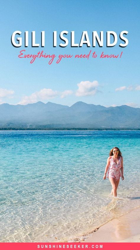 Gili Islands travel guide! Everything you need to know about Gili T, Gili Air and Gili Meno. Where to stay, where to eat and what to do + how to get to the Gili Islands and when to visit the Gilis #giliislands #lombok #indonesia