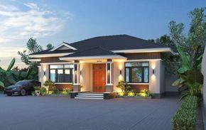Expansive One Storey Villa With Four Bedrooms Pinoy Eplans Arsitektur Rumah Arsitektur Rumah
