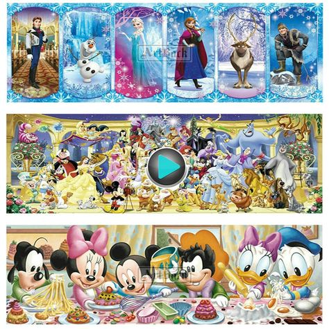 DIY Full 5D Diamond-Painting Rhinestone Mickey Mouse Cross Stitch for Child
