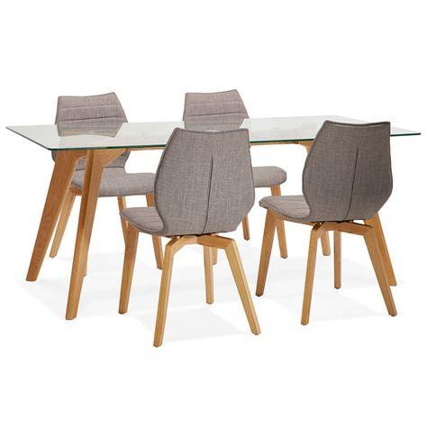 Chaise Design Linda En Tissu Style Scandinave Avec Images
