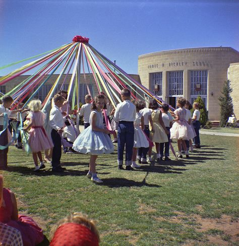 Debbie's 3rd Grade May Day; 1960