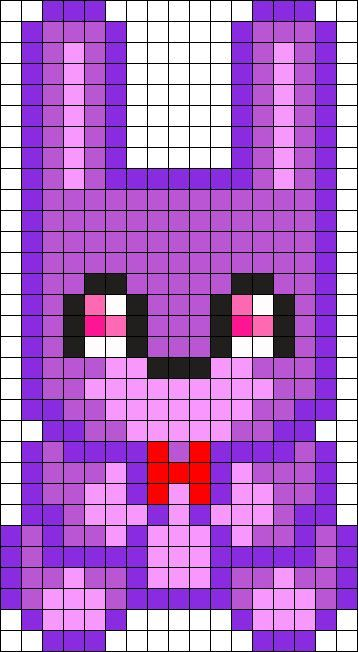 Bonnie Plush Perler Bead Pattern Bead Sprite Polly Pixel