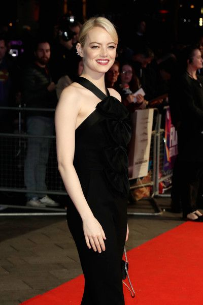 Actress Emma Stone attends the Headline Gala Screening & UK Premiere of 'Killing of a Sacred Deer' during the 61st BFI London Film Festival.