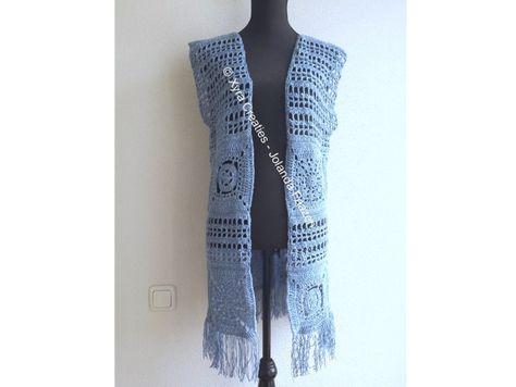 Onwijs PATR1077 - Xyra Haakpatroon - Lang gilet / vest zonder mouwen OK-91