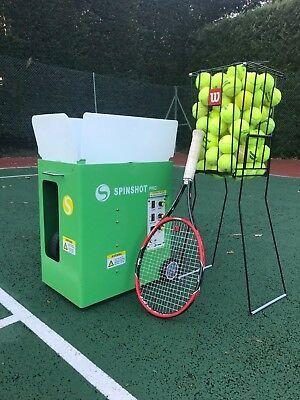 Spinshot Player Tennis Ball Machine With Phone Remote Supported Tennis Ball Machines Tennis Tennis Ball