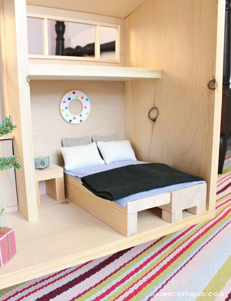 A Diy Tutorial To Build Tiny House Convertible Furniture Perfect For The Barbie Size Or Any 1 6 Scale Dollhouse