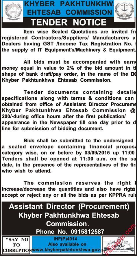 punjab public service commission lahore corrigendum notice Tenders - best of is invitation to tender