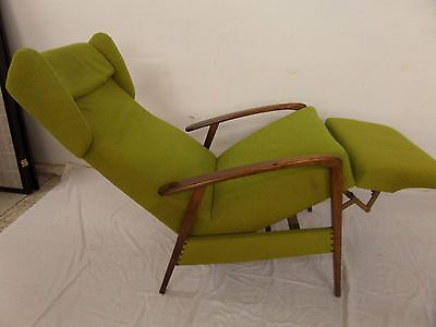 SESSEL RELAXSESSEL FERNSEHSESSEL 60ER 70ER JAHRE MIDCENTURY LIEGESESSEL GRUN
