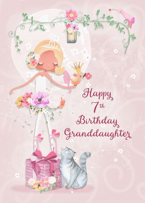 Happy 7th Birthday To Granddaughter Pretty Ballerina Card Ad Ad Granddaughter Birthday Hap Happy 8th Birthday Happy 10th Birthday Happy 12th Birthday