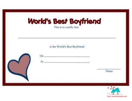 Gifts For Boyfriend Anniversary One Year Free Printable 48 Ideas Best Boyfriend Boyfriend Gifts Award Template