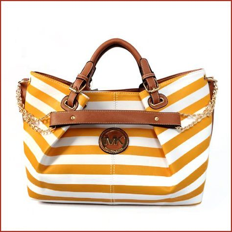 Creative Striped Logo Large Yellow Totes Makes Your World Full Of Joy And Happiness!