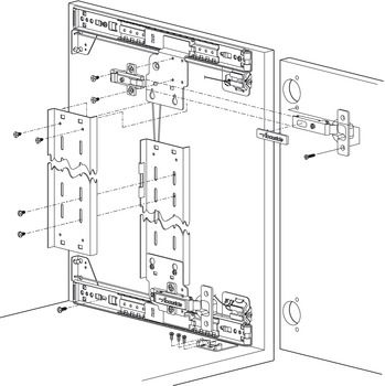 Pocket Door System Accuride 1332 With 35 Mm Hinge Kit In The Hafele America Shop In 2020 Pocket Doors Hafele Hinges