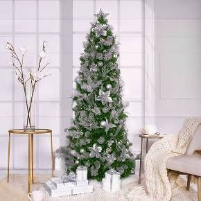 Easy Set Up Christmas Tree Simple Set Up Technology Assembles In Less Than One Minute S Pre Decorated Christmas Tree White Led Lights Pre Lit Christmas Tree