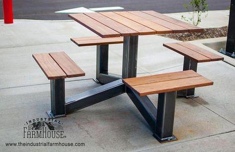 Picknicktisch Outdoor Modern Industrial Style Picknicktisch