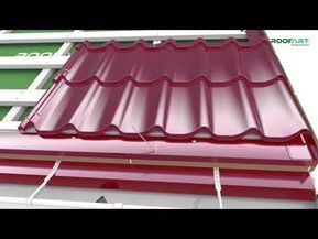 Umbrella Double Modular Metal Tile Mounting Guidelines For Double Pitched Roof Youtube In 2020 Roof Cladding Metal Roof Roof Styles