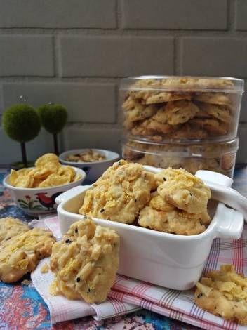 Resep Cornflakes Cookies Oleh Dapurmiranti Resep Resep Kue Camilan Resep Masakan
