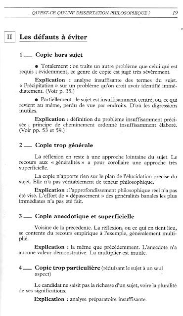 Pena Ruiz La Dissertation De Philosophie 1986 Analyse Manuel Plan Exemple