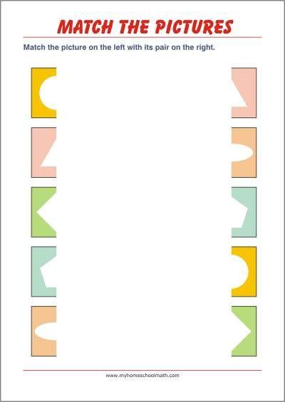 Match The Pairs Free Printable Activities For Preschool And Kindergarten Visual Perceptual Activities Math Activities Preschool Fun Worksheets For Kids Worksheet activities for preschoolers