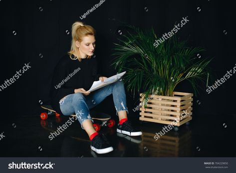 Young Attractive Fashion Designer Holding Folders Stock Photo (Edit Now) 313421174