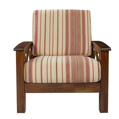 Loon Peak Deschambault Armchair In 2020 Armchair Exposed Wood Chair