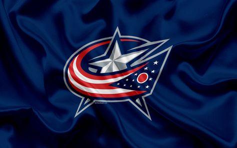 Download wallpapers Columbus Blue Jackets, hockey club, NHL, emblem, logo, National Hockey League, hockey, Columbus, Ohio, USA