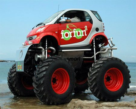Smart Car Monster Truck Awesome Funny Shit Pinterest Smart