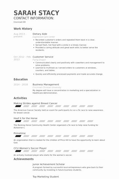 Dietary Aide Job Description Resume Elegant 10 How To Create A Resume For A Dietary Aide In 2020 Dietary Aide Sample Resume Resume