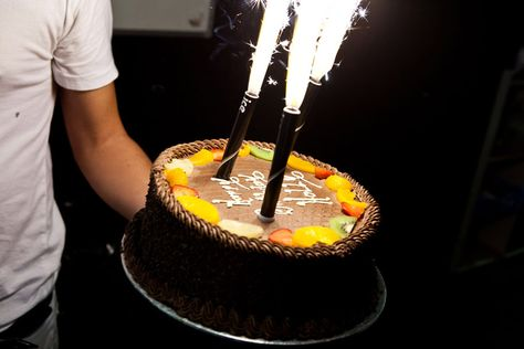 Sparkler Birthday Cake Candles