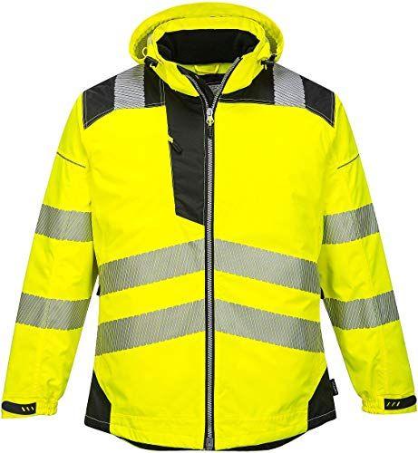 Best Seller Brite Safety Pw3 Hi Vis Winter Jacket Rain Gear Men Waterproof Reflective High Visibility Jackets Yellow Black 2xl Online Winter Jackets Safety Workwear Men S Coats And Jackets