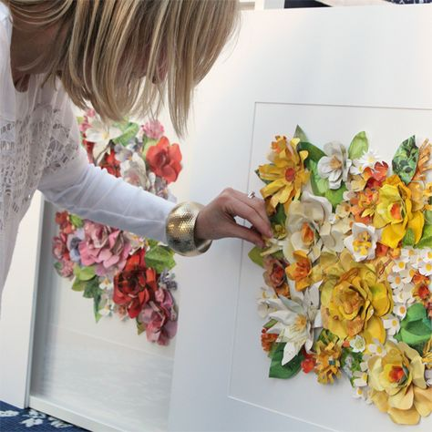 Gorgeous Paper Flower Artworks Made From Upcycled Vintage