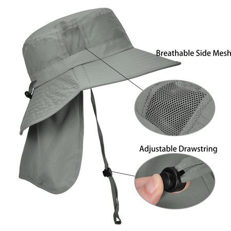 Solaris Men S Sun Protection Hat With Neck Flap Cover Wide Brim Outdoor Fishing Hiking Camping Hunting Boating Safari Gardening Working Hat Walmart Com Sun Protection Hat Work Hats Wide Brimmed
