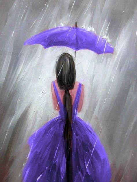 Purple Www Cartoondistri Umbrella Painting Purple Painting