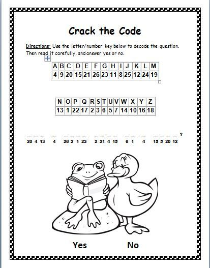 This Is Bite Size Phonics Cryptogram Puzzle In Activity Students Will Use A Letter Number Key To Crack The Code Of An Encrypted Que
