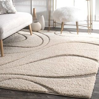 Nuloom Luxuries Ivory Shag Posh Rug 10 X 14 Rug Possibilities Easy Home Decor Cheap Home Decor Home Decor Accessories