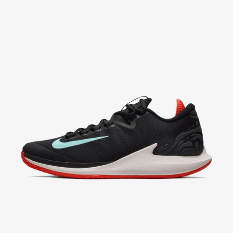 48e975e6898b2 Nike Air Zoom Zero HC Men s Tennis Shoes Black Racket Racquet Court AA8018- 001  Nike