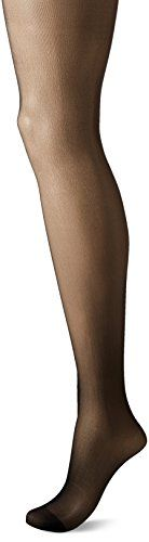 CK Women's Seamless Sheer Pantyhose, Black, Size D *** Find out more at the image link.