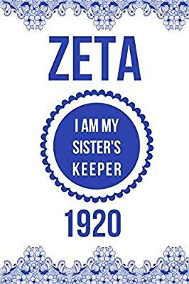 Zeta I Am My Sister S Keeper 1920 Blank Lined Journal